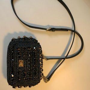 Dolce&Gabbana Crystal Embellished Crochet Mini Bag